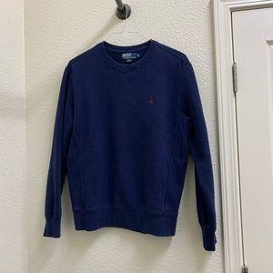 Mens Navy Blue Polo Ralph Lauren Sweatshirt Size M